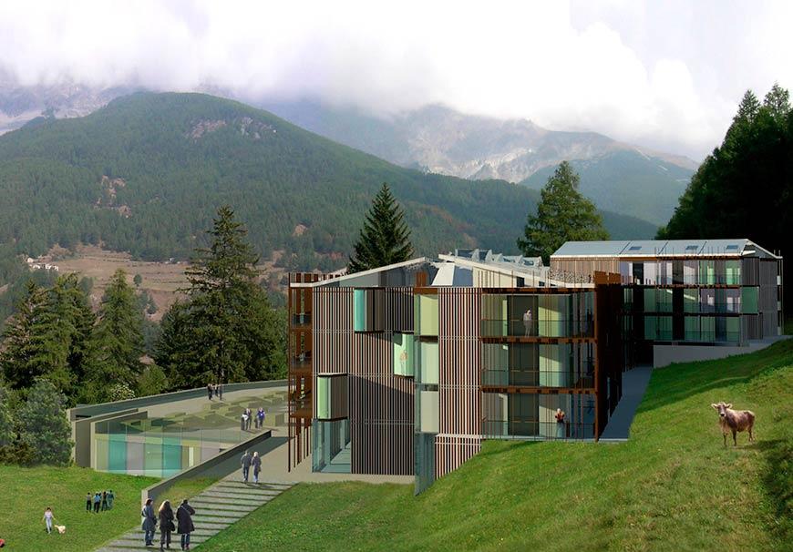 Complesso alberghiero alpino a Bormio, Valtellina